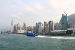 Fast ferry boat going to Hong Kong Stock Image