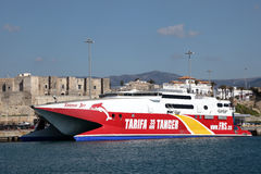 Fast ferry ship in Spain Royalty Free Stock Image