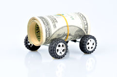 Fast Finances. Car and money concept for car loan stock photo
