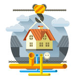 Fast Flat House Royalty Free Stock Photos