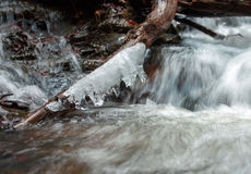 Fast flow of water in river cascade Royalty Free Stock Photography