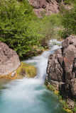 Fast Flowing Fossil Creek Arizona. A  scenic fossil creek landscape in northern arizona Stock Images