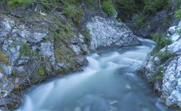 Mountain Creek with long exposure Royalty Free Stock Photos