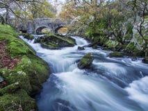Fast flowing Ogwen river Stock Image