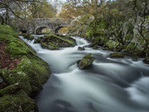 Fast flowing Ogwen river Stock Photo