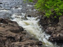Fast flowing river Royalty Free Stock Photography