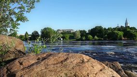 Fast Flowing River Narva stock video footage
