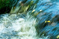 Fast flowing water Royalty Free Stock Images