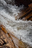 Fast Flowing Water. Between rocks Royalty Free Stock Photos