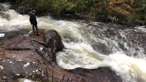 Fast flowing water - Isle of Skye - Scotland stock video footage