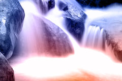 Fast flowing water in the mountain Royalty Free Stock Image