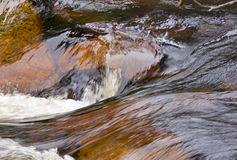 Fast flowing water in waterfall Royalty Free Stock Photos
