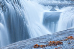 Fast and flowing waterfall  background Stock Image