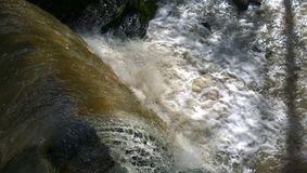 Fast Flowing Waterfall - River in Spate Royalty Free Stock Images
