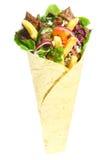 Fast food árabe com a carne envolvida em um pão do pão árabe Imagem de Stock Royalty Free