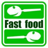 Fast food. Bar  logotype Royalty Free Stock Photo
