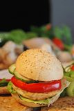 Fast food. Hamburger close up Stock Photography
