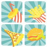 Fast food Imagem de Stock Royalty Free