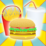 Fast food. Common fast food items sold Stock Photography
