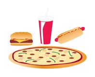Fast Food. Items on a white background Royalty Free Stock Photography