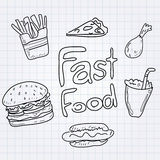 Fast food Obrazy Royalty Free