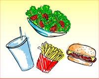 Fast food royalty free illustration