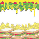 Fast food background Royalty Free Stock Image