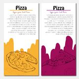 Fast food background. Pizza banners Royalty Free Stock Images