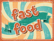 Fast food background in retro style Stock Images