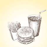 Fast food background 6 Royalty Free Stock Image