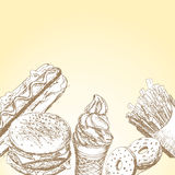 Fast food background 7 Royalty Free Stock Images