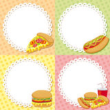 Fast food backgrounds Royalty Free Stock Photography