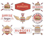 Fast food badges and icons colored 1 Stock Photography