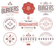 Fast food badges and icons colored 2 Royalty Free Stock Photo