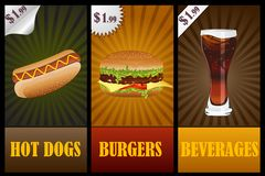 Fast Food Banner. Easy to edit vector illustration of fast food promotion banner stock illustration