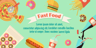 Fast food banner. Royalty Free Stock Photography
