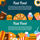 Fast food banner. Stock Image