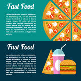 Fast food banner. Stock Photography