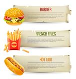Fast food banners Stock Photography
