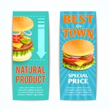 Fast Food Banners Set Royalty Free Stock Photo
