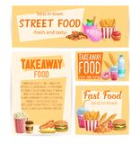 Fast Food banners royalty free illustration