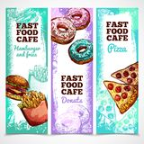 Fast Food Banners Vertical Royalty Free Stock Photography