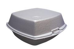 Fast-food box. Styrofoam box for fast food stock photos