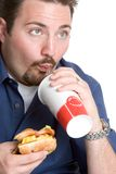 Fast Food Boy Stock Photos
