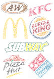 Fast Food Brands Stock Image