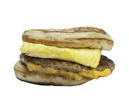 Fast food breakfast sandwich. On a white background Royalty Free Stock Images