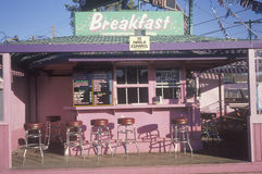 Fast Food Breakfast Stand. Breakfast Stand inLos Angeles, California Royalty Free Stock Photos