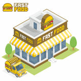 Fast Food building Stock Image
