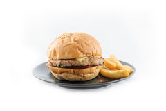 Fast food burger. S are delicious everywhere Stock Photography