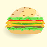 Fast food, Burger Stock Image